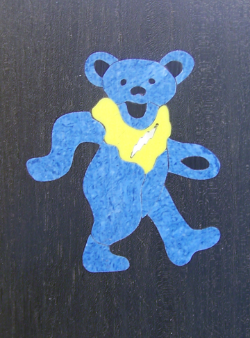 Grateful Dead,Guitar Inlay,Dancing Bear