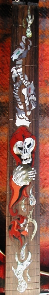 Wizard of Skull Custom Inlay Washburn Guitar Shell