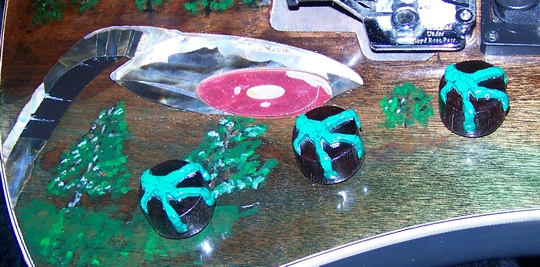 Custom Guitar Knobs, War of the Worlds,Washburn,Custom Inlay