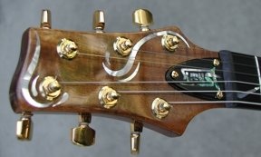 Shark Inlay Custom Guitar Headstock Inlay
