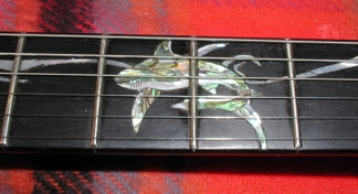 Shark Inlay Custom Guitar Fretboard Inlay