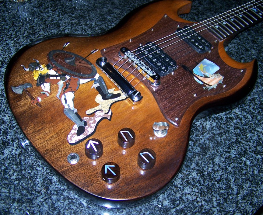 Shark Inlay,SharkInlay,Custom Inlay,Inlay,Gibson,Gibson SG,Guitar Body Inlay