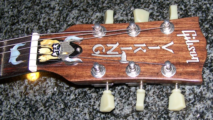 Custom Inlay,Guitar Inlay,Gibson,Gibson SG,Shark Inlay,The Viking,Cliff Suttle,Headstock Inlay,Guitar Headstock Inlay