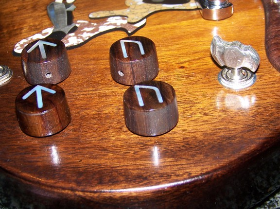 Custom Inlay,Guitar Inlay,Gibson,Gibson SG,Shark Inlay,The Viking,Cliff Suttle,Custom Control Knobs