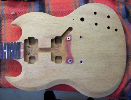 Gibson Guitar,Gibson SG,Guitar Repair,Rosewood headstock,Shark Inlay,Viking Guitar,Guitar Refinish