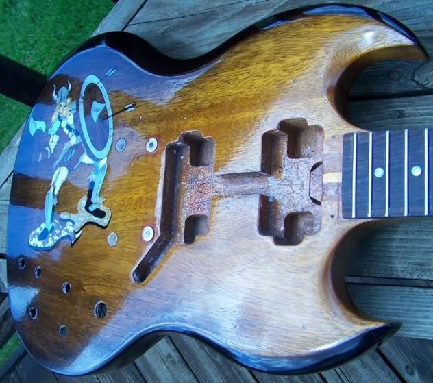 Custom Inlay,Guitar Inlay,Gibson,Gibson SG,Shark Inlay,The Viking
