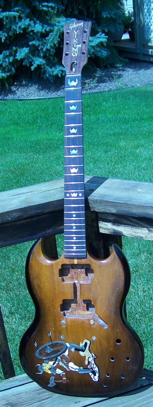 Custom Inlay,Guitar Inlay,Gibson,Gibson SG,Shark Inlay,The Viking,Cliff Suttle,Guitar Body Inlay,Inlay