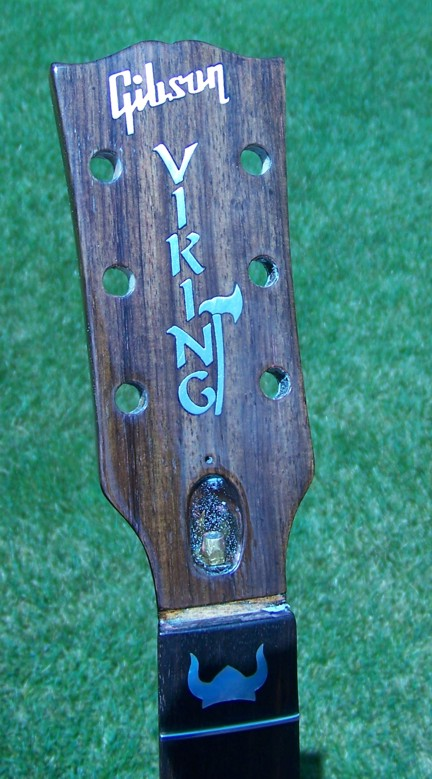 Custom Inlay,Guitar Inlay,Gibson,Gibson SG,Shark Inlay,The Viking,Cliff Suttle,Headstock Inlay, Guitar Headstock Inlay